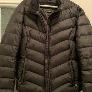 Eddie Bauer black goose down winter coat